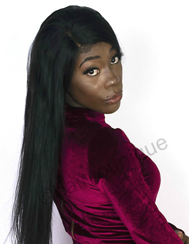 "14"" 22"" 100% Premium Virgin Human Hair Wig Bone Straight (Natural Color)"