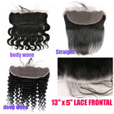 "ear to ear 13"" X 5"" Lace Frontal Virgin Remy Human Hair"