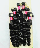 "Malaysian Virgin Finger Rolls 16"" 18"" 20"" Set with Lace Closure"