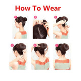 Step by step how to wear a hair piece