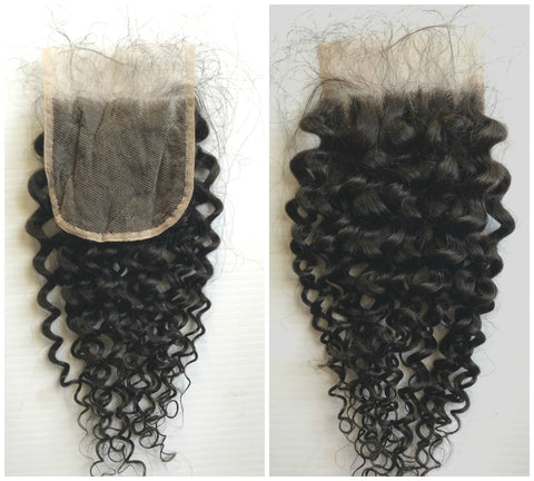"10""-12"" Clear or HD Lace Top Closure Jerry Curls Premium Virgin Remy Hair"
