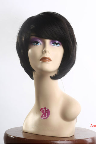 Wig for cheap with high quality synthetic hair dark brown