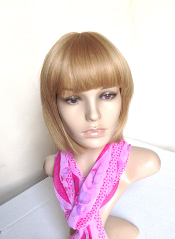 Cheap short bob wig natural blonde