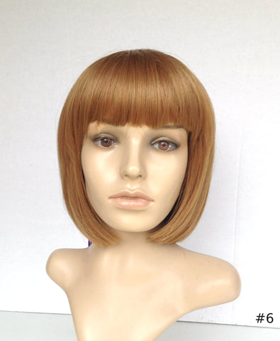 Cheap bob wig short with bang