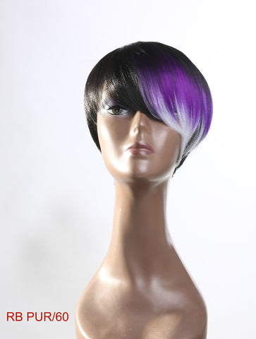 Cheap ombre wig black grey purple
