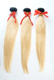 "Premium Virgin Hair Ombre Natural Color to Blonde Straight Bundles (T1B/613) 12""-20"""