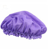 Purple bonnet cap