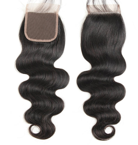 "12""-22"" Clear or HD Top Closure Bodywave Free Parting Premium Virgin Hair"