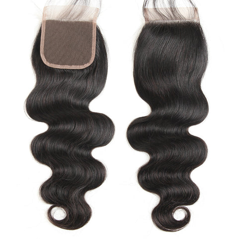 Long virgin remy human hair closure