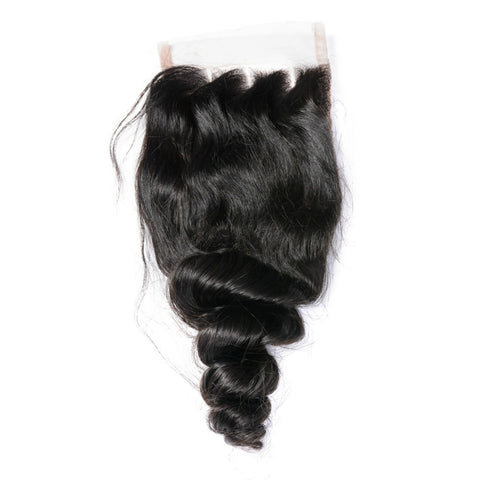 Malaysian finger roll hair closure