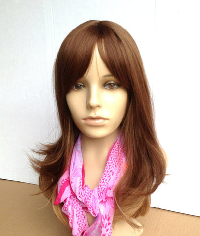 Cheap wig wavy smooth ombre two toned