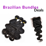 "12""-28"" Premium Virgin Human Hair Bundles + Top Closure (Bodywave)"