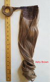 "14"" 24"" Claw on or Wrap-on Clip in Wavy Ponytail Extensions (12 Colors)"