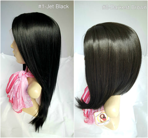 dark synthetic wig