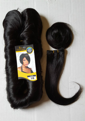 Finger roll 27 piece human hair short
