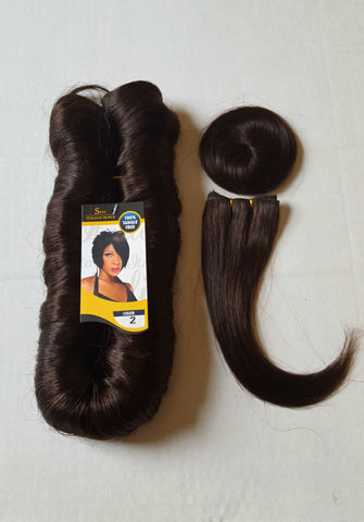 Dark brown short hair cut for women