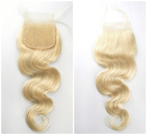 "14""-16""  Lace Base Top Closure Bodywave All Blonde"