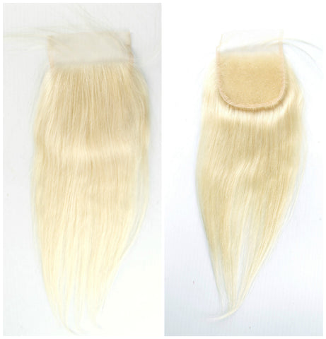 "14""-16""  Lace Base Top Closure Straight All Blonde"