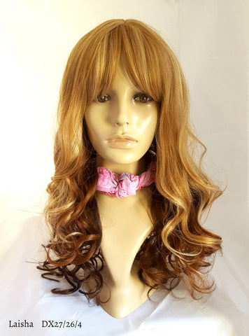 Cheap curly ombre wig long layered with bang