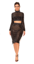 Black Sequins Two Piece