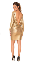 Gold Bare Back Bodycon