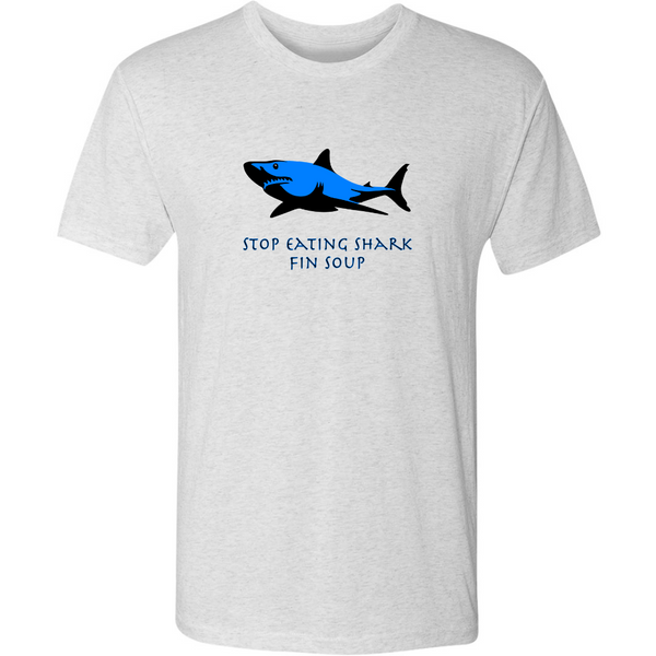 Stop Eating Shark Fin Soup - Triblend Tee - JG