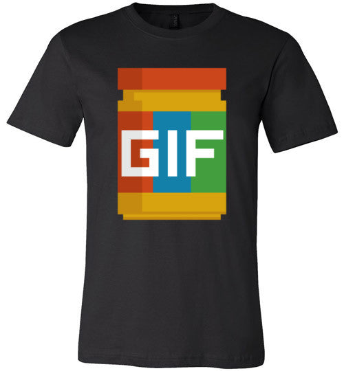 Gif Peanut Butter 8-Bit | Unisex Gray T-Shirt | Eternal Weekend - 3