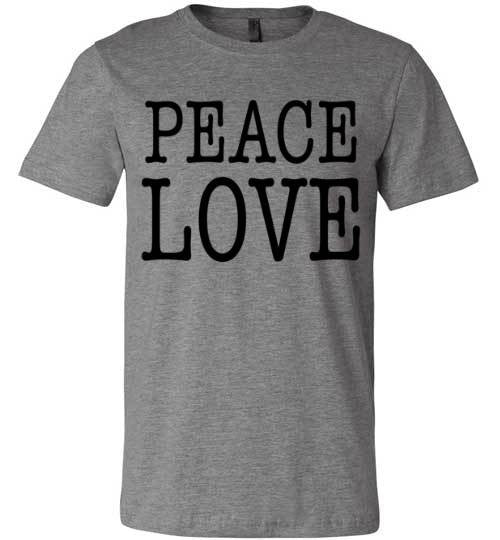 Peace Love Shirt | Unisex White T-Shirt | Eternal Weekend - 2