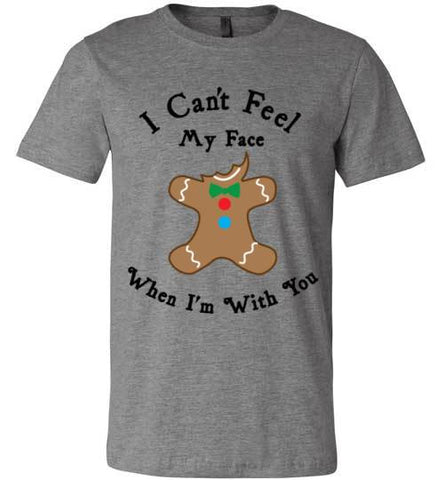 I Can't Feel My Face When I'm With You (Cookie) | Unisex Gray T-Shirt | Eternal Weekend - 1