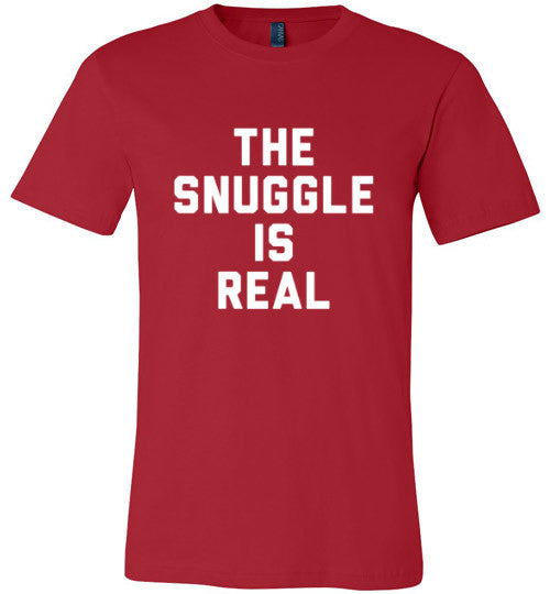 The Snuggle Is Real (White Text) | Unisex Black T-Shirt | Eternal Weekend - 3