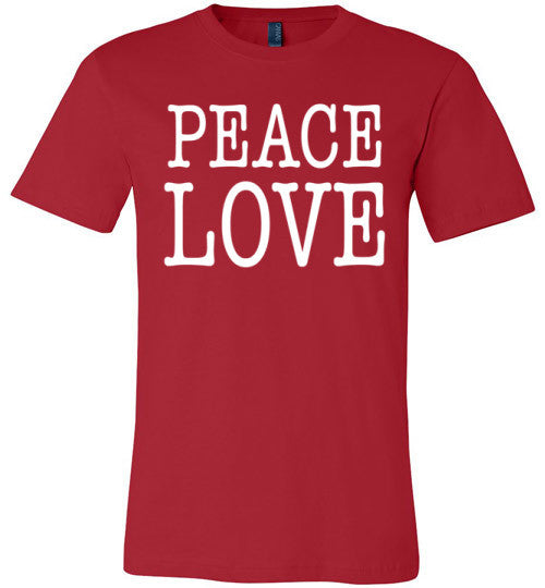 Peace Love | Unisex Black T-Shirt | Eternal Weekend - 3