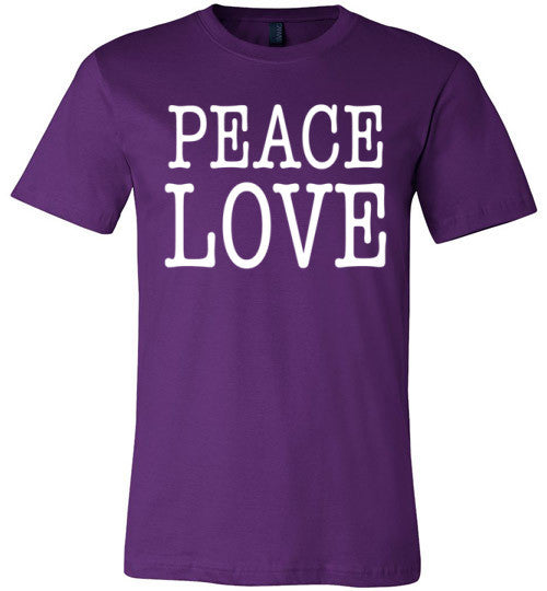 Peace Love | Unisex Black T-Shirt | Eternal Weekend - 4