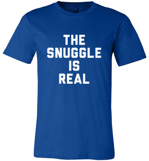 The Snuggle Is Real (White Text) | Unisex Black T-Shirt | Eternal Weekend - 4
