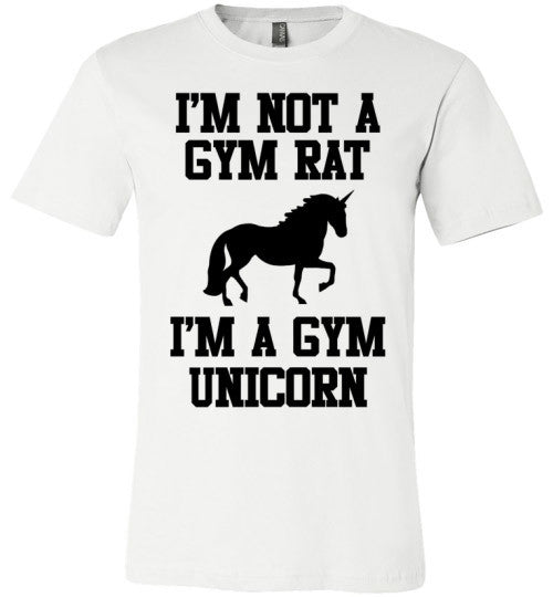 Im Not A Gym Rat I'm A Gym Unicorn | Unisex Gray T-Shirt | Eternal Weekend - 2