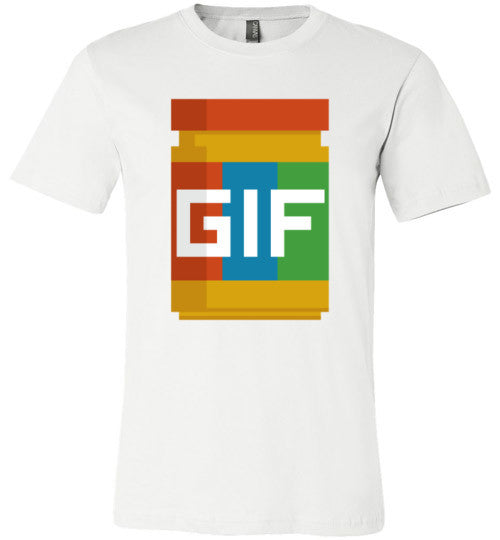 Gif Peanut Butter 8-Bit | Unisex Gray T-Shirt | Eternal Weekend - 2