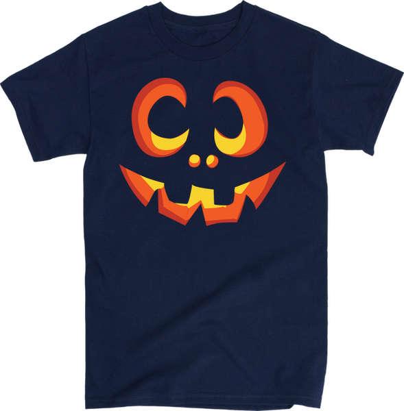 Pumpkin Face | Unisex Black T-Shirt | Eternal Weekend - 5