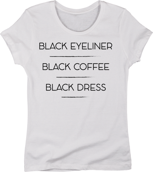 Black Eyeliner, Black Coffee, Black Dress | Apparel | Eternal Weekend - 3