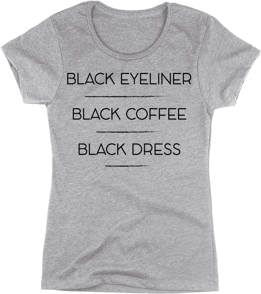 Black Eyeliner, Black Coffee, Black Dress | Apparel | Eternal Weekend - 1