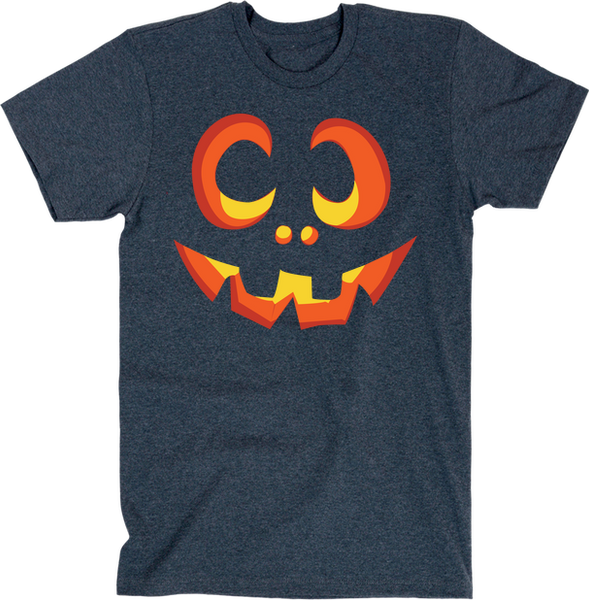 Pumpkin Face | Unisex Black T-Shirt | Eternal Weekend - 3