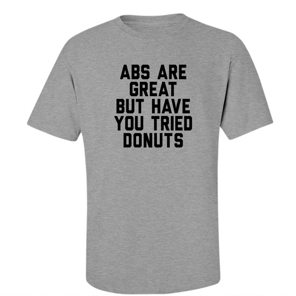 Abs or Donut's -  Midweight Cotton Tee - JG