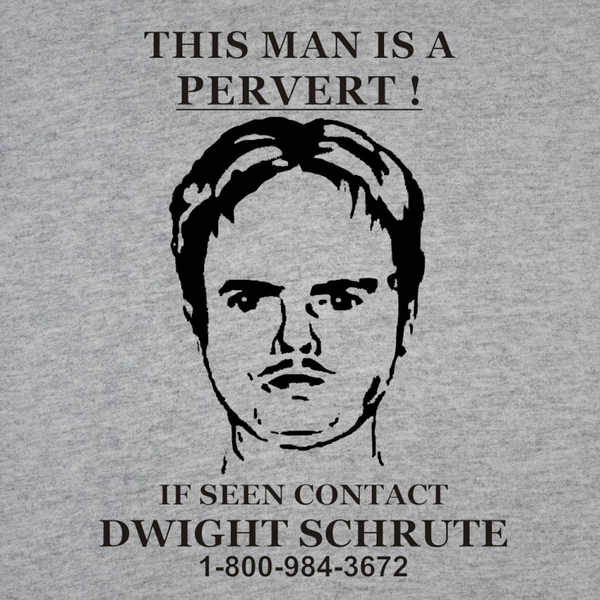 Dwight Schrute Pervert Sign Men's T-Shirt