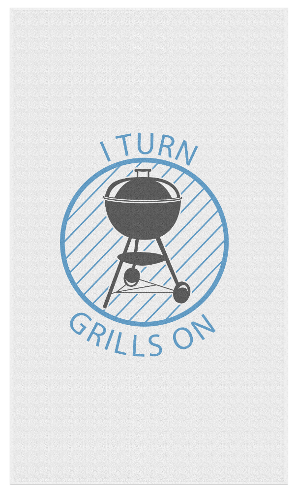 I Turn Grills On - Beach Towel - JG