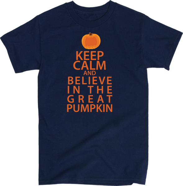 Keep Calm And Believe In The Great Pumpkin | Unisex Black T-Shirt | Eternal Weekend - 5