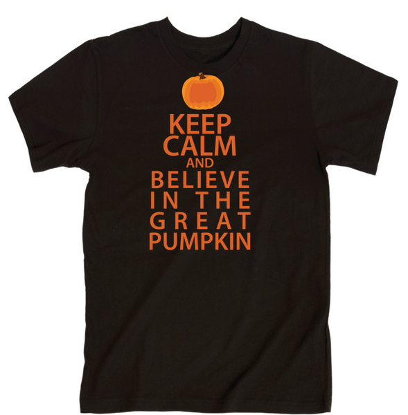 Keep Calm And Believe In The Great Pumpkin | Unisex Black T-Shirt | Eternal Weekend - 1
