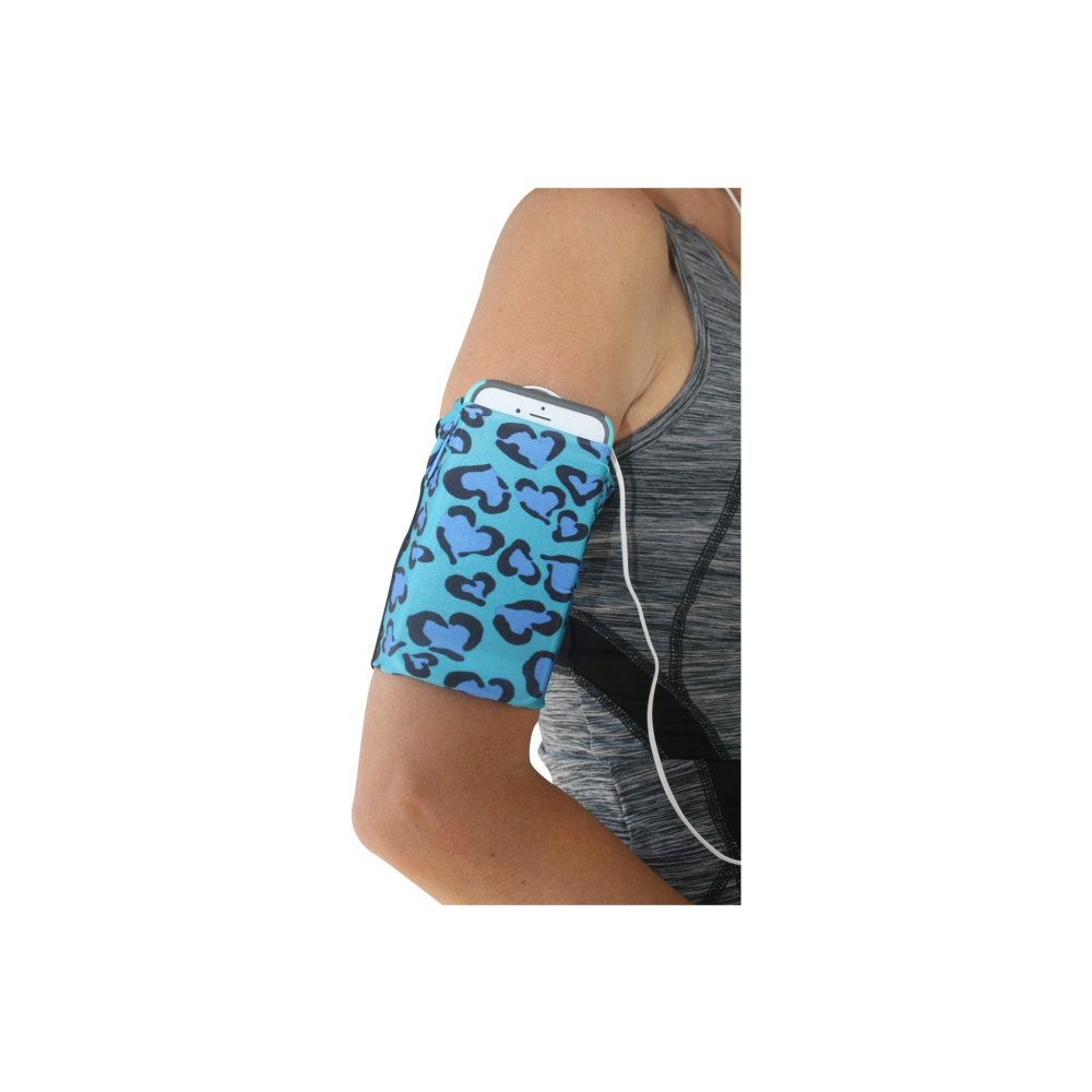 Blue Leopard Cell Phone Armband