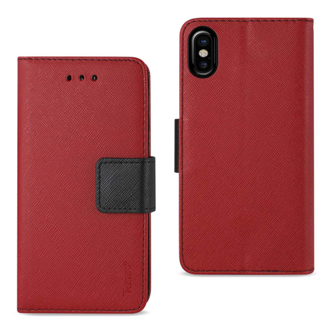 iPhone X 3-Pocket Red Wallet Case