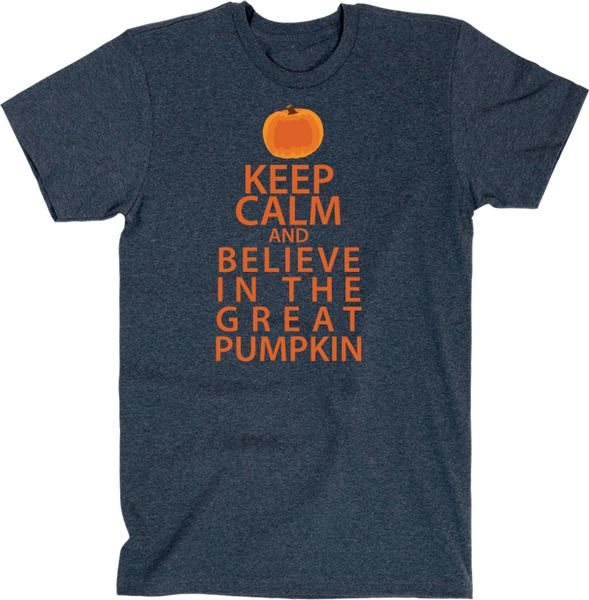 Keep Calm And Believe In The Great Pumpkin | Unisex Black T-Shirt | Eternal Weekend - 3