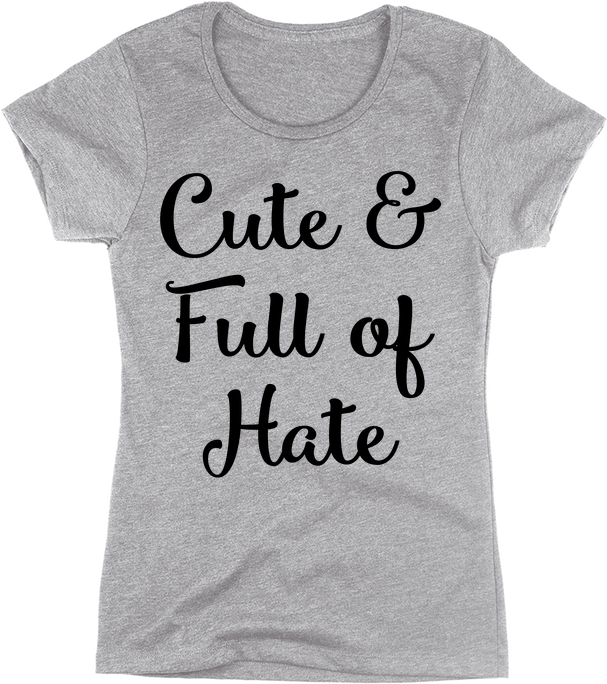 Cute & Full of Hate | Apparel | Eternal Weekend - 1