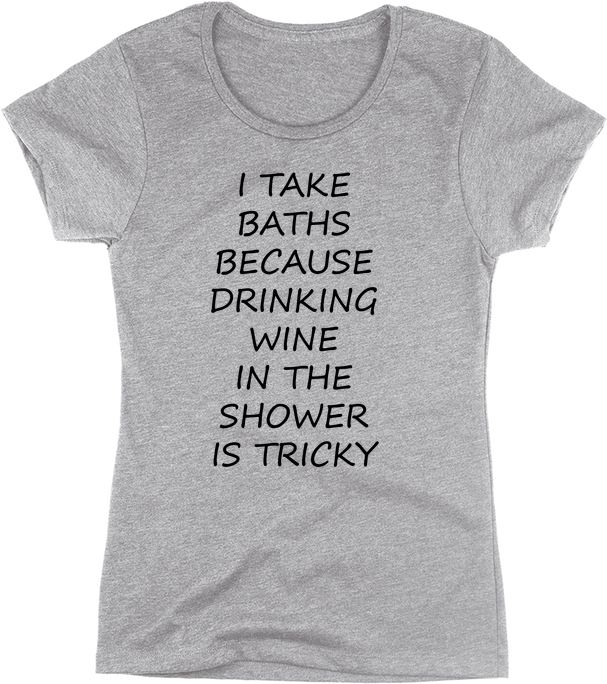 Drinking Wine In The Shower is Tricky | Apparel | Eternal Weekend - 1