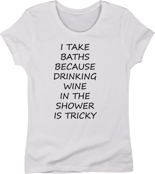 Drinking Wine In The Shower is Tricky | Apparel | Eternal Weekend - 5